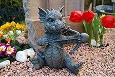 Gartendrache Amor Drache Figur Garten Gartenfigur Liebe TOP