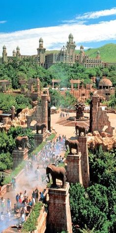Palace of the Lost City, Sun City, South Africa .same architects that designed Atlantis in the BahamasThe Palace of the Lost City, Sun City, South Africa .same architects that designed Atlantis in the Bahamas Oh The Places You'll Go, Places To Travel, Travel Destinations, Places To Visit, Sun City Resort, Destination Voyage, Lost City, Africa Travel, Adventure Is Out There