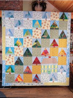 Big House in the Woods Quilt Pattern from Annie's Craft Store. Order here: https://www.anniescatalog.com/detail.html?prod_id=135539&cat_id=1644