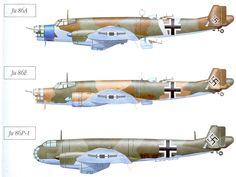 Junkers Ju 86 A, E and P-1models.