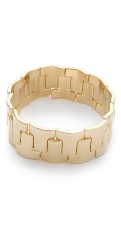 Tory Burch Skinny T Stretch Bracelet because we all know how much I love pretty stretchy bracelets!