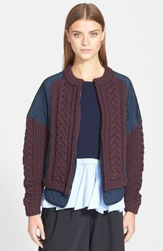 Tibi Silk Bomber Jacket available at #Nordstrom
