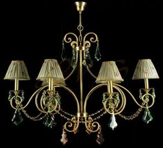 Φωτιστικό με χαρακτήρα! Νεοκλασικό κομμάτι με μεγάλα κρύσταλλα σε απαλό ροζ και απαλό πράσινο. Wall Lights, Ceiling Lights, Sconces, Chandelier, Lighting, Home Decor, Appliques, Chandeliers, Candelabra