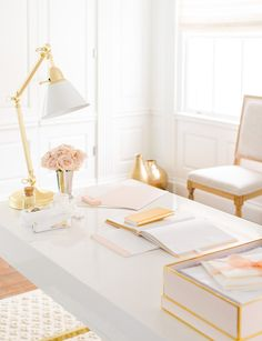 Check out the reveal of this absolutely stunning home office makeover! Includes tons of great organization ideas! office ideas for women from home office ideas home offices home offices office ideas organization Home Office Space, Home Office Design, Home Office Decor, Office Workspace, Office Ideas, Work Cubicle Decor, Creative Office Decor, Office Inspo, Office Chic