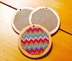 Wooden Cross Stitch Pendant or Keyring Blank £8.00