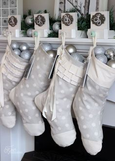 Create your own set of personalized christmas stockings by following this easy sewing tutorial. Personalize your christmas stockings with unique photo tags
