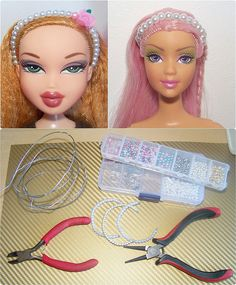 How To Make Doll Headbands - Decor Tips 2019 Barbie Dolls Diy, Diy Barbie Clothes, Barbie Doll House, Barbie Stuff, Accessoires Barbie, Diy Accessoires, Barbie Sewing Patterns, Doll Clothes Patterns, Doll House Crafts