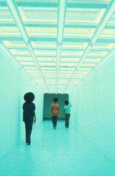 Dan Flavin, Untitled (To Elizabeth and Richard Koshalek), Via Walker Art Center. Dan Flavin, Light Art Installation, Modernisme, Lights Artist, Walker Art, Louvre, 3d Studio, Light And Space, Exhibition