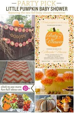 fall baby shower ideas | Party Pick Little Pumpkin Baby Shower Party