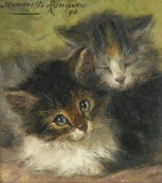 Henriëtte Ronner-Knip was a Dutch painter. Born: May 31, 1821, Amsterdam, Netherlands Died: March 02, 1909, Ixelles, Belgium  She was best known for her paintings of subjects from nature, especially cats and dogs.