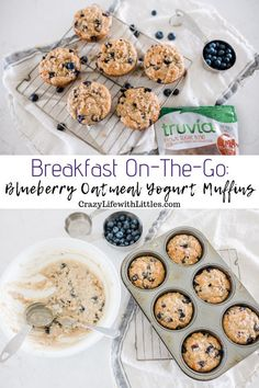 Blueberry Oatmeal Yogurt Breakfast Muffins For those busy mornings on the go, make a batch of blueberry oatmeal yogurt muffins made with Truvia Brown Sugar Blend. Also works well in mini muffins for a delicious treat Yogurt Breakfast, Breakfast On The Go, Breakfast Muffins, Brunch Recipes, Breakfast Recipes, Easy Recipes, Drink Recipes, Potato Recipes, Vegetable Recipes