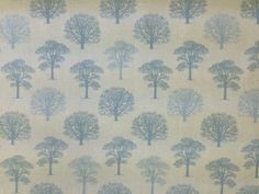 MARSON-TREES-DUCK-EGG-BLUE-COTTON-PRINT-FLORAL-CURTAIN-SOFT-FURNISHING-FABRIC