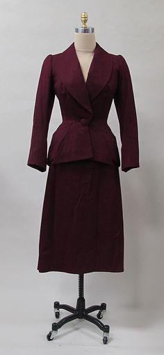 Suit, Charles James, 1950s. -The Metropolitan Museum of Art