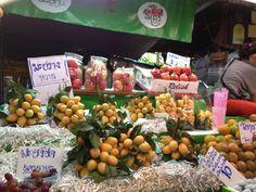 exotic thai fruit display