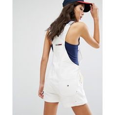 Tommy Jeans 90's Dungaree (260 NZD) ❤ liked on Polyvore featuring jumpsuits, tommy hilfiger overalls, overalls jumpsuit, tommy hilfiger, tall jumpsuit and bib overalls