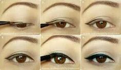Cat eye make up. Step by step.