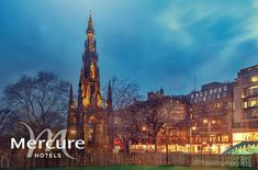 Overnight stay for two including a bottle of wine in the room on arrival and breakfast at Mercure Edinburgh Princes Street; enjoy panoramic views of Edinburgh Castle & valid until March 2021! – save 53% Edinburgh Hotels, Edinburgh Castle, Edinburgh City Centre, Stay Overnight, Family Days Out, Newcastle, Old Town, Street, Building
