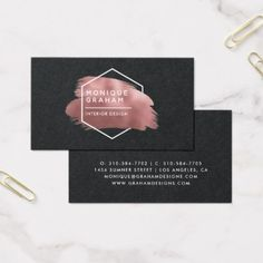 Shop Abstract Rose Gold Logo Business Card created by IYHTVDesigns. Beauty Business Cards, Salon Business Cards, Free Business Cards, Unique Business Cards, Business Card Logo, Business Card Design, Fashion Business Cards, Name Card Design, Branding Design