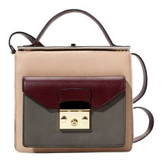 Colorblock Turn-lock Shoulder Bag and other apparel, accessories and trends. Browse and shop related looks.