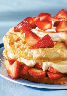 Simply Sensational Strawberry Shortcake – Fresh strawberries and a creamy pudding filling make this one of the best strawberry shortcakes you'll ever have!