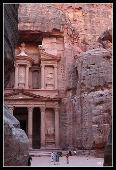 one of the most elaborate buildings in the ancient Jordanian city of Petra.