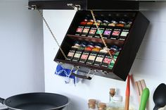 This Fold-Down Spice Rack Is Perfect For Cooks With A Small Kitchen