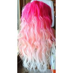 20 Pink Hairstyle Pics Hair Color Inspiration StrayHair ❤ liked on Polyvore featuring beauty products, haircare, hair, hairstyles, beauty and pink
