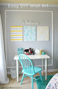 Easy DIY Wall Art - so fast, easy and inexpensive!
