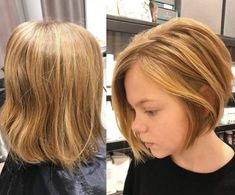"""The """"bob"""" is all right. Focus on this trendy haircut already adopted by celebrities. The """"bob"""" is a variant of the square stricto sensu since it is more… Continue Reading → Little Girl Bob Haircut, Shaggy Bob Haircut, Bob Haircut For Girls, Cute Bob Haircuts, Cute Bob Hairstyles, Toddler Hairstyles, Layered Haircuts, Toddler Bob Haircut, Long Hairstyle"""