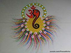 Super Easy and Innovative Ganesh Rangoli Designs Using Bangles