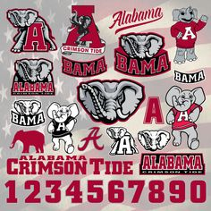 Alabama Crimsons Football logo svg, digital download, SVG, DXF,EPS,Pdf for use with Cameo, Silhouette and Cricut Die Cutting Machines