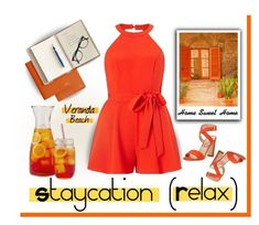 """""""Stay cation"""" by outfitsloveyou ❤ liked on Polyvore featuring Miss Selfridge, Manolo Blahnik and Mark & Graham #manoloblahnikoutfit"""