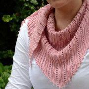 Розовый бактус. Схема вязания спицами