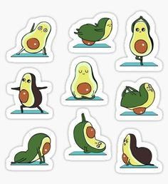 Bangkok-based Chalermphol Harnchakkham is a self-taught illustrator whose unique work is inspired by Pug, French bulldog, Fitness and Dream. Chalermphol creates art to express himself and enjoys making people smile with his artwork. Planner Stickers, Journal Stickers, Printable Stickers, Laptop Stickers, Cute Stickers, Book Wallpaper, Iphone Wallpaper, Cute Avocado, Homemade Stickers