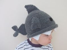 Shark hat Knitting Baby Hat for Baby or by myknittingworld- HA this is funny