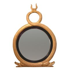 Regency Twin Serpent Convex Mirror High And Low Lights, Traditional Wall Mirrors, Convex Mirror, Custom Mirrors, Regency, Twins, House Styles, Georgian, English