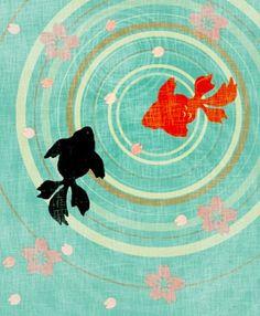 Kingyo (goldfish) Art