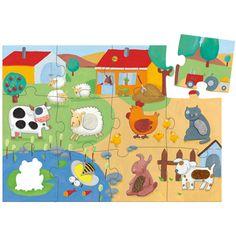 Puzzle tactilo La ferme 20 pièces Djeco
