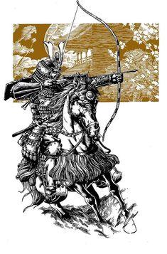 Samurai Archer by JesterretseJ.deviantart.com on @DeviantArt