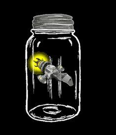 Firefly in a jar.