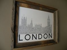 London Big Ben and Houses of Parliament Word Art Print, $22