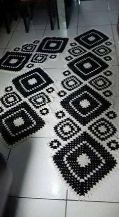 Tapete de crochê banheiro