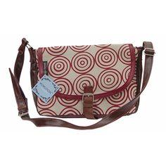 MONGOOSE ALICE BAG RED CIRCULAR PRINT