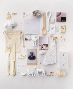 white and beige pale collection