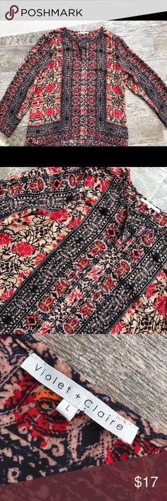 Violet + Claire Long Sleeve Blouse Violet + Claire Long Sleeve Blouse Large Violet & Claire Tops Blouses