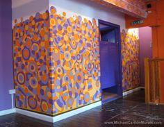 Michael Carlton Art Mural at the Neal's Yard Salad Bar, London Salad Bar, Divider, London, Room, Neal's Yard, Furniture, Interior Ideas, 10 Years, Murals
