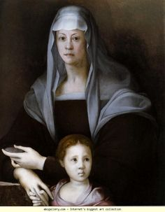 Pontormo. Portrait of Maria Salviati with Giulia de' Medici. c.1537. Oil on wood. 88 x 71 cm. The Walters Art Museum, Baltimore, MD, USA