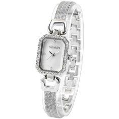 WEIQIN Clear Crystal Women Slim Bracelet Bangle Stainless Quartz Wrist Watch WEIQIN. $26.99