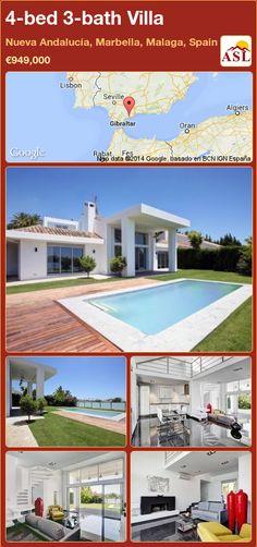 4-bed 3-bath Villa in Nueva Andalucía, Marbella, Malaga, Spain ►€949,000 #PropertyForSaleInSpain