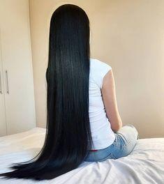 Long Straight Black Hair, Long Silky Hair, Long Dark Hair, Super Long Hair, Long Black, Long Hair Models, Beautiful Long Hair, Hair Pictures, Hair Videos